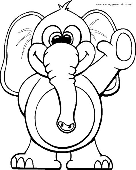 coloring pages free printable animals elephant color page animal coloring pages color plate