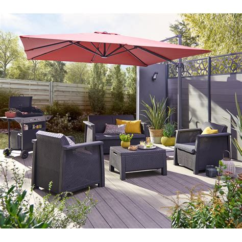 agréable Leroy Merlin Salon De Jardin Resine #2: salon-bas-de-jardin-kansas-resine-injectee-gris-anthracite-4-personnes.jpg