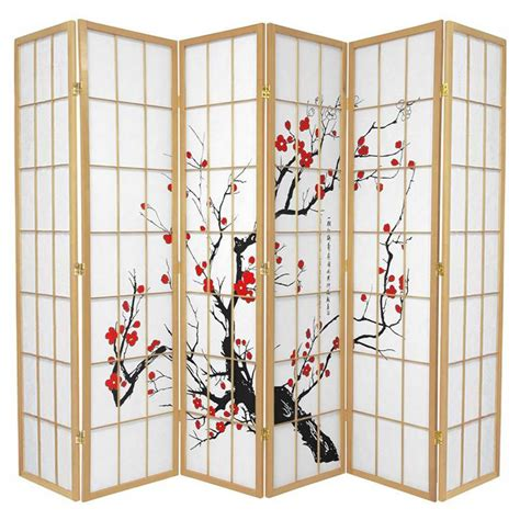 cherry blossom room divider cherry blossom 6 fold room divider 264cm buy