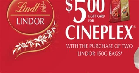 cineplex wq canadian daily deals lindor cineplex odeon movie night offer