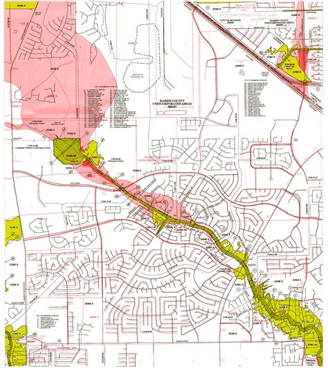 harris county texas map panel 0420
