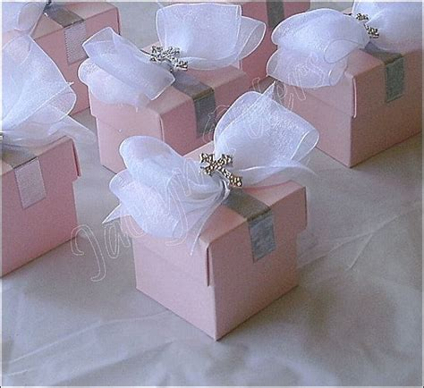 Favor Boxes Dc Nearlyweds by Baptism Favor Boxes Pink With Silver Cross White
