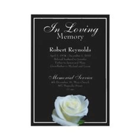 1000  images about Funeral invitations on Pinterest