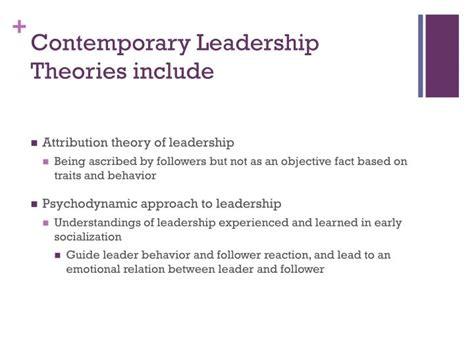 contemporary theories ppt contemporary leadership theories powerpoint