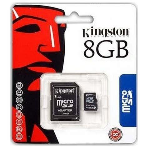 Micro Sd 8 Gb Kingston Class 10 kingston memory card microsd hc 8 gb adattore classe 10