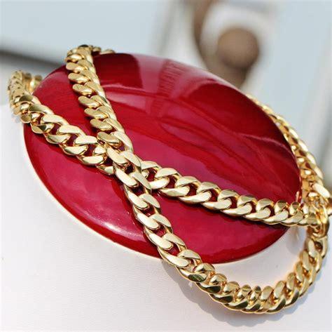Handmade Cuban Link Chain - handmade 14k yellow gold 24 25 quot solid cuban curb link