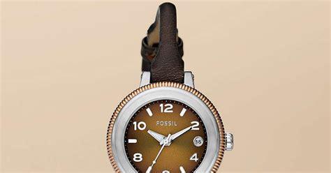 Jam Tangan Wanita Fossil Es4162 Gazer Sand Leather Original jam tangan wanita fossil type am4353