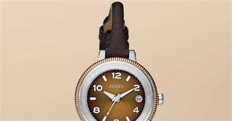 Jam Tangan Fossil Mocca Brown Leather Harga jam tangan wanita fossil type am4353