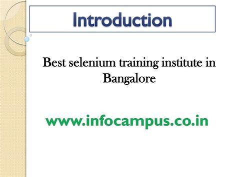 selenium tutorial powerpoint slides ppt selenium courses in bangalore powerpoint