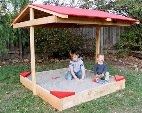 build a sandpit in your backyard how to build a covered sandbox how tos diy