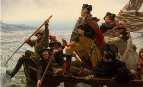 george washington on boat mmam unveils famous painting