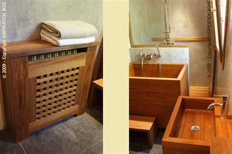 baignoire en bois japonaise inspiration bois 174 mobilier en teck et agencement sur