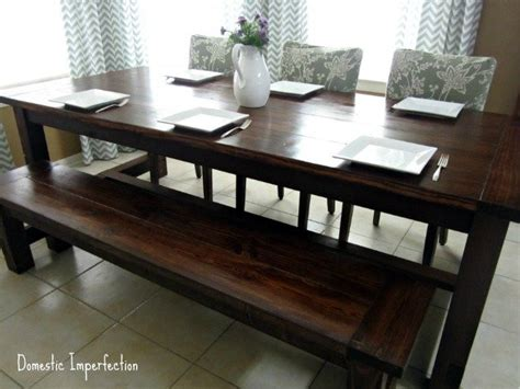farm table with bench 5 diy farmhouse table projects bob vila