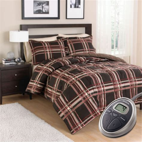 Heated Comforter by Sunbeam Premium Electric Heated Warming Comforter Set W