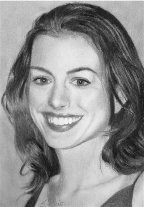 Vida de Artista: Retrato a lápis de Anne Hathaway