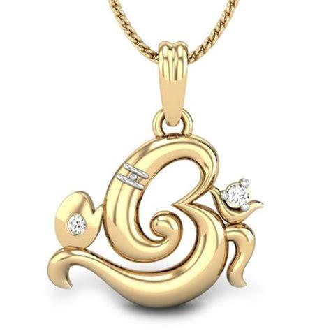 om ganesh gold pendant gallery