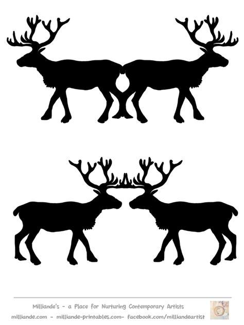 printable reindeer silhouette reindeer silhouette cliparts co