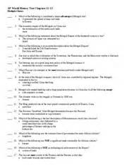 world history chapter 2 section 1 assessment answers ap world history test chapters 11 13 ap world history