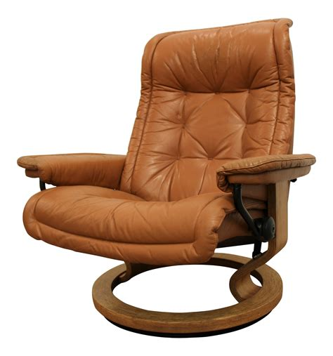 danish recliner ekornes style danish modern stressless recliner chairish