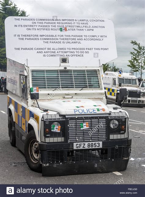 land rover psni psni land rover displaying a parades commission parade