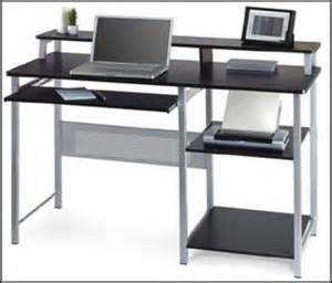 Black Small Computer Desk Glass Desk Office Modern Office Furniture Glass Office Desk Furniture Furniture Designs