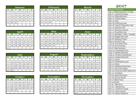hindu calendar 2017 tithi holidays festivals