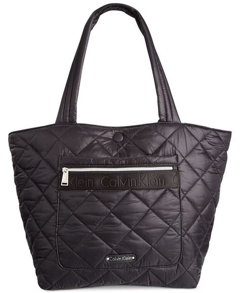 calvin klein cire quilted reversible large tote in