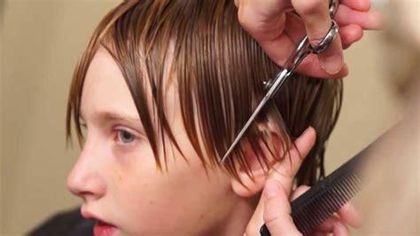 how to cut teen boys hair boys medium length side swept hair cut done 95 with a