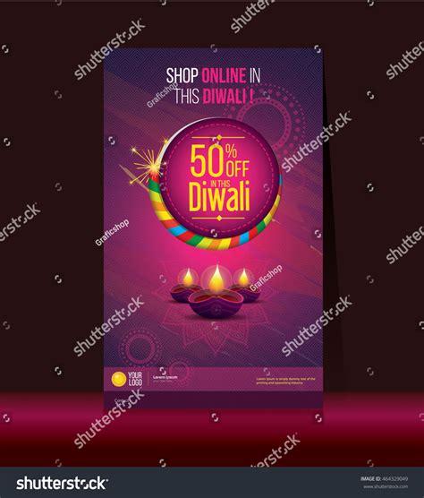 poster design for diwali diwali festival offer poster design template stock vector