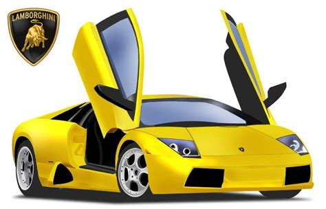 cartoon lamborghini yellow lamborghini gallardo vector images 365psd com