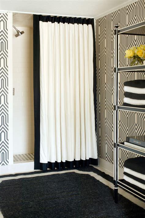 black and white bathroom window curtains 10 gorgeous black and white bathrooms huffpost
