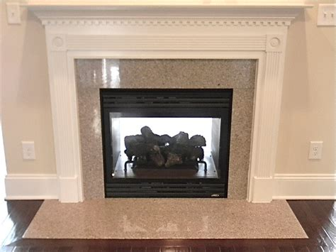 see through fireplace double sided wheat field granite