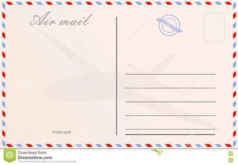 airmail postcard template all templates deal