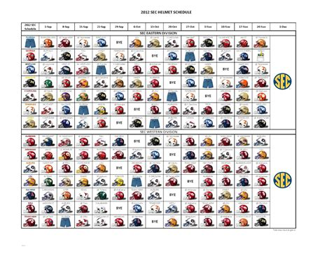 Printable Helmet Schedule | sec 2015 helmet schedule printable video search engine