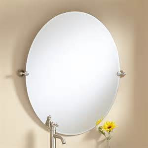 bathroom oval mirrors 36 quot seattle oval tilting mirror bathroom
