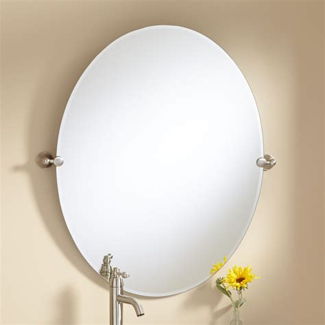 oval mirrors bathroom 36 quot seattle oval tilting mirror bathroom