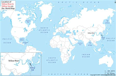 world map marked with rivers yellow sea on world map www pixshark images
