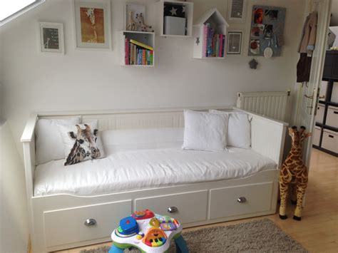hemnes daybed hack lucians room nursery babyroom grey white inspiration