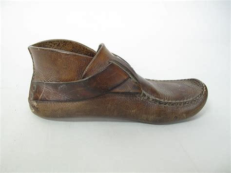 Mens Handmade Moccasins - 1970 s vintage handmade leather s hippie ring boot