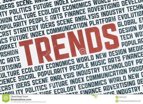 popular amd trendy words trends illustration concept royalty free stock photos