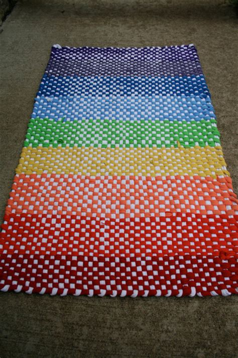 recycled t shirt rug woven recycled t shirt rag rug rainbow by the someday house eclectic rugs