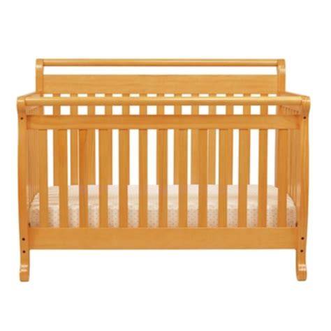 Wood Convertible Cribs Davinci Emily 4 In 1 Convertible Wood Baby Crib In Honey Oak M4791o