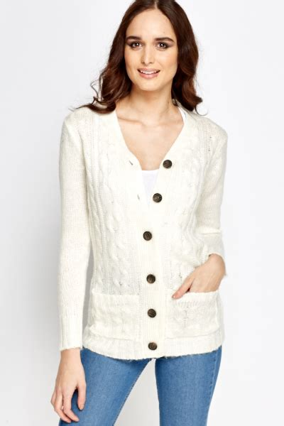 cable knit button cardigan cable knit large button cardigan just 163 5