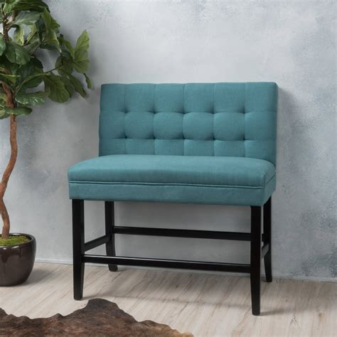 fabric bench with back paddy tufted back fabric 26 inch barstool bench gdf studio