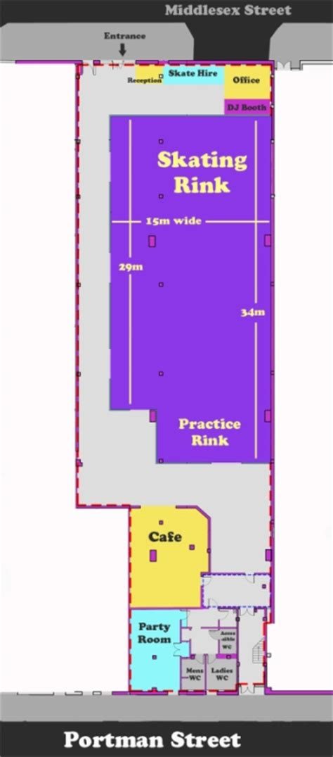 roller skating rink floor plans roller rink for glasgow a sports crowdfunding project in