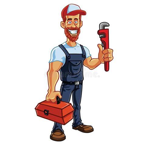 clipart idraulico idraulico mascot vector illustrazione vettoriale