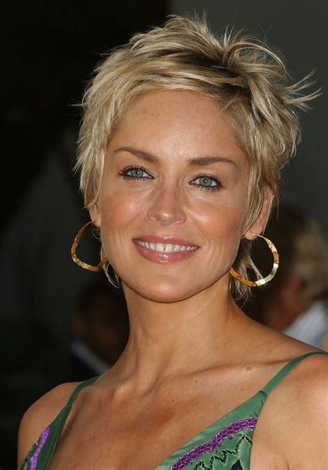 sharon stone short hair on round face 20 short haircuts for women over 50 pretty designs
