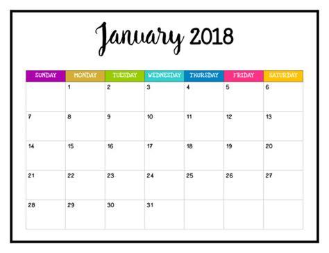 printable calendar pages 2018 2018 printable calendar 2018 wall calendar pages bright
