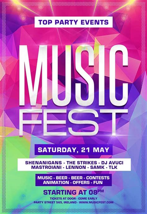 festival poster template free freepsdflyer the festival free