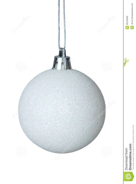 white christmas ball over plain background stock photo